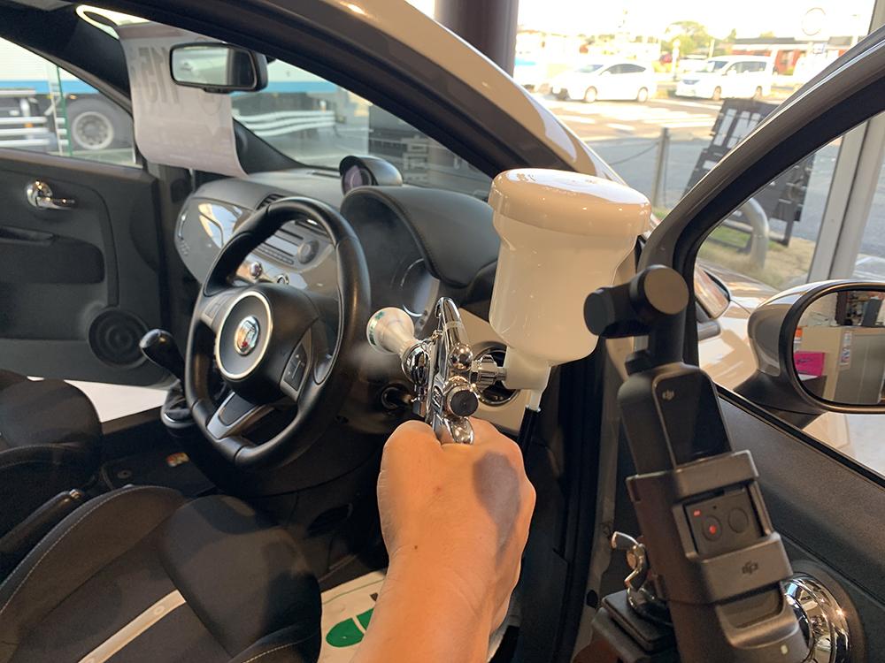 車(フィアット アバルト)の抗菌コート施工